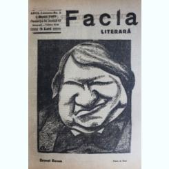 REVISTA FACLA LITERARA NR.5/1923