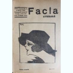 REVISTA FACLA LITERARA NR.6/1923