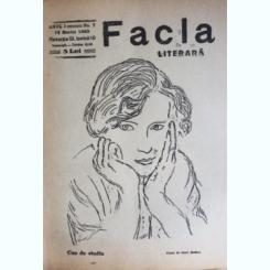 REVISTA FACLA LITERARA NR.7/1923