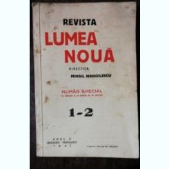 REVISTA LUMEA NOUA - NR. 1-2 IANUARIE -FEBRUARIE 1941