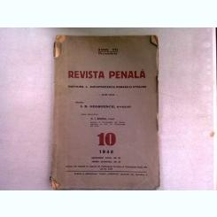 REVISTA PENALA  nr.10/1940