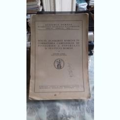 ROLUL ACADEMIEI ROMANE IN COMBATEREA CAMPANIILOR DE PONEGRIRE A POPORULUI SI STATULUI ROMAN - GRIGORE ANTIPA