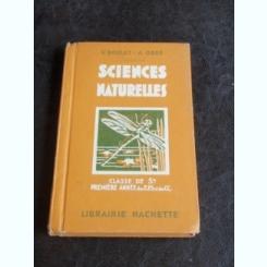 SCIENCES NATURELLES - V. BOULET