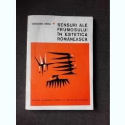 SENSURI ALE FRUMOSULUI IN ESTETICA ROMANEASCA - GRIGORE SMEU