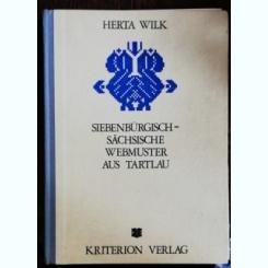 SIEBENBURGISCH -SACHSISCHE WEBMUSTER AUS TARTLAU - HERTA WILK