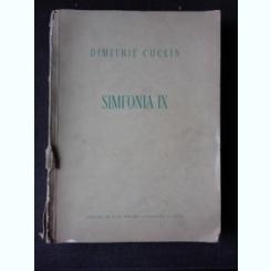 SIMFONIA IX - DIMITRIE CUCLIN  (PARTITURA)