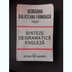 SINTEZE DE GRAMATICA ENGLEZA - GEORGIANA GALATEANU FARNOAGA