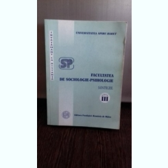 SINTEZE. FACULTATEA DE SOCIOLOGIE PSIHOLOGIE ANUL III INVATAMANT LA DISTANTA - MIHAELA MINULESCU