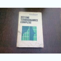 SISTEME TERMODINAMICE COMPLEXE - V.V. SICEV