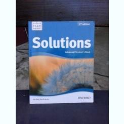 SOLUTIONS, ADVANCED STUDENT'S BOOK - TIM FALLA  (CARTE IN LIMBA ENGLEZA)