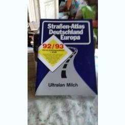 STRAßENATLAS DEUTSCHLAND EUROPA 92/93  (ATLAS AUTO EUROPA, GERMANIA)