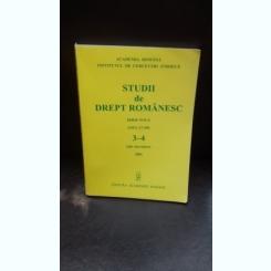 STUDII DE DREPT ROMANESC - NR.3-4/2005