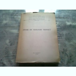 STUDII DE GEOLOGIE TEHNICA  1964