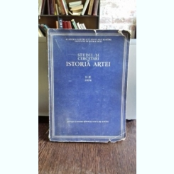 STUDII SI CERCETARI DE ISTORIA ARTEI - TOMUL1-2/1954
