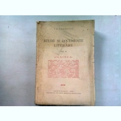 STUDII SI DOCUMENTE LITERARE - I.E TOROUTIU   VOL. III