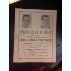 Succesele muzicale din revista Dai un Ban dar Face, prezentate de Eugen Mirea si H. Malineanu