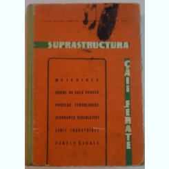 SUPRASTRUCTURA CAII FERATE DE TITUS BURTAN , DUMITRU CONSTANTINESCU SI NICOLAE DISLI , 1965
