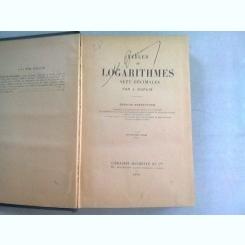 TABLES DE LOGARITHMES - J. DUPUIS