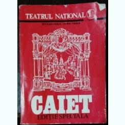 TEATRUL NATIONAL - STAGIUNEA 1982 -1983 (RADU BELIGAN )