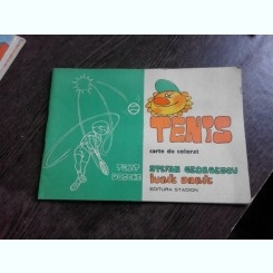 TENIS, TEXT STEFAN GEORGESCU, DESENE DE IURIE DARIE, CARTE DE COLORAT