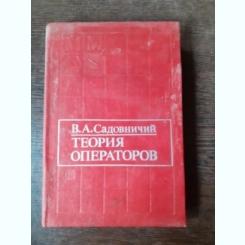 TEORIA OPERATORIE - V.A. SADOVNICI  (CARTE IN LIMBA RUSA)