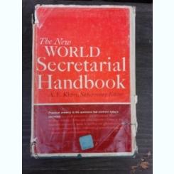 THE NEW WORLD SECRETARIAL HANDBOOK - A.E. KLEIN  (CARTE IN LIMBA ENGLEZA)