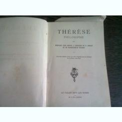 Therese Philosophe ou Memoires Pour Servir a l'Histoire du P. Dirrag et de Mademoiselle Eradice  (carte in limba franceza)