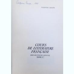 Valentin Lipatti, Cours de litterature francaise