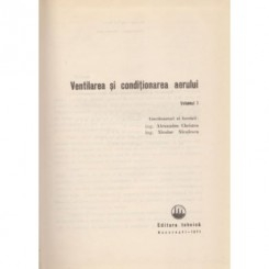 Ventilarea si conditionarea aerului (vol I) - Al. Christea, Nicolae Niculescu