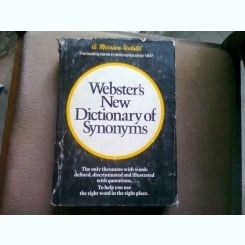 WEBSTER'S NEW DICTIONARY OF SYNONYMS  (DICTIONAR DE SINONIME)