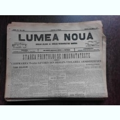 Ziarul Lumea Noua, ziar socialist,organ al P.S.D.-M.R.,Anul III, 857 marti 20 mai 1897