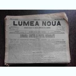 Ziarul Lumea Noua, ziar socialist,organ al P.S.D.-M.R.,Anul III, 879 miercuri 18 iunie 1897