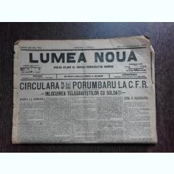 Ziarul Lumea Noua, ziar socialist,organ al P.S.D.-M.R.,Anul III,750 miercuri 15 Ianuarie 1897