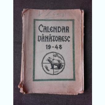 CALENDAR VANATORESC 1948