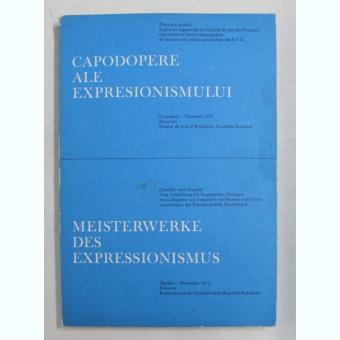CAPODOPERE ALE EXPRESIONISMULUI , EXPOZITIE MUZEUL DE ARTA AL R.S.R. , OCTOMBRIE - NOIEMBRIE , TEXT IN ROMANA - GERMANA , 1972 Autor: COLECTIV