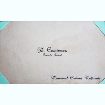 CARTE DE VIZITA GH. COMICESCU, INSPECTOR GENERAL