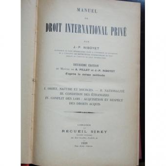 DROIT INTERNATIONAL PRIVE - J.P.NIBOYET