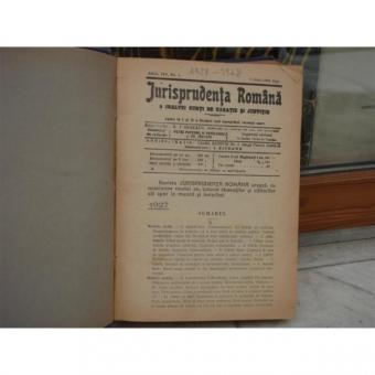 Jurisprudenta romana a inaltei curti de casatie si justitie anul XIV nr.1 , Drept , 1927