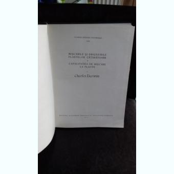 MISCARILE SI OBICEIURILE PLANTELOR CATARATOARE. CAPACITATEA DE MISCARE A PLANTELOR - CHARLES DARWIN