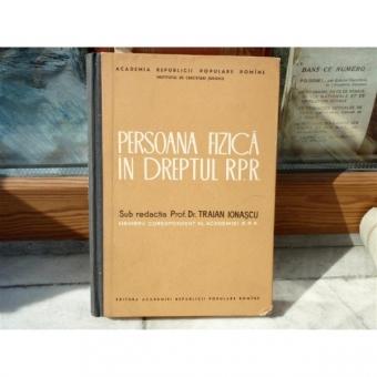 Persoana fizica in dreptul R.P.R , Traian Ionascu , 1963