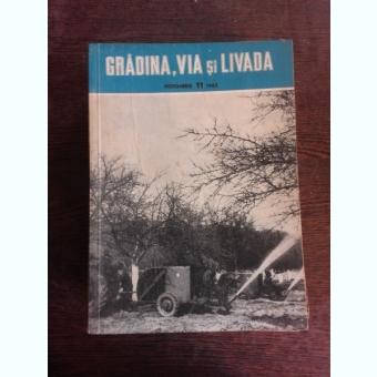 REVISTA GRADINA, VIA SI LIVADA NR. 11/1962